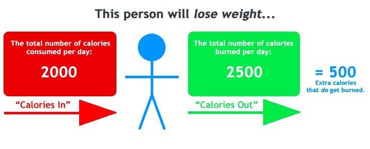 calorie intake to lose weight - calorie deficit
